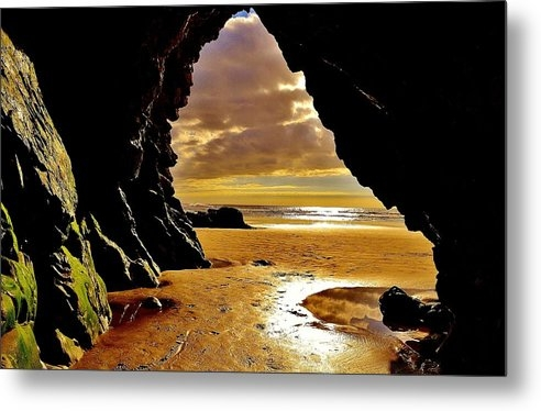 California Coastal Commission - Cave Sunset at Shell Beac... Print