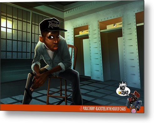 Nelson  Dedos Garcia - Blacksteel in the Hour of... Print
