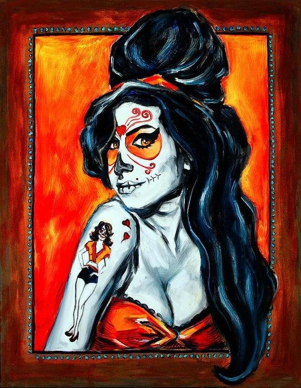 Jennifer Cahoon - Amy Winehouse Day of the ... Print