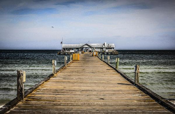 Chris Smith - Pier Walkway Print