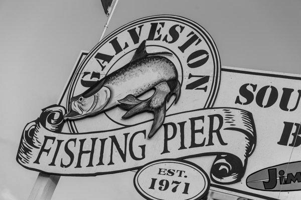John McGraw - Galveston Fishing Pier Print