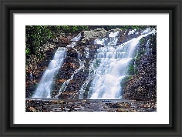 Mike Yeatts - Relaxing at Laurel Falls Print