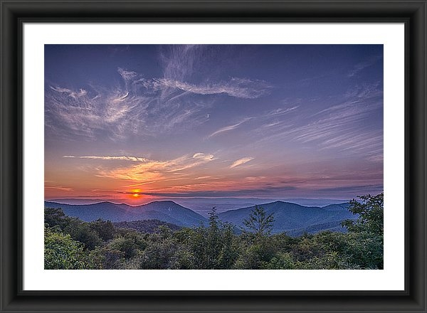 Mike Yeatts - Sunsets in Appalachia  Print