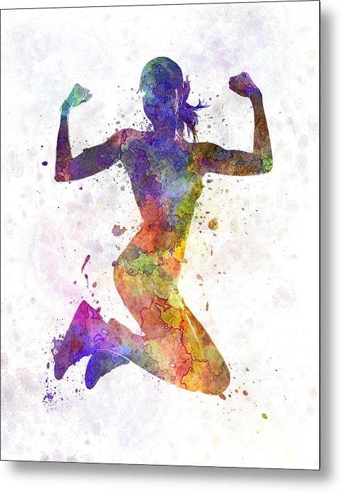 Pablo Romero - Woman runner jogger jumpi... Print