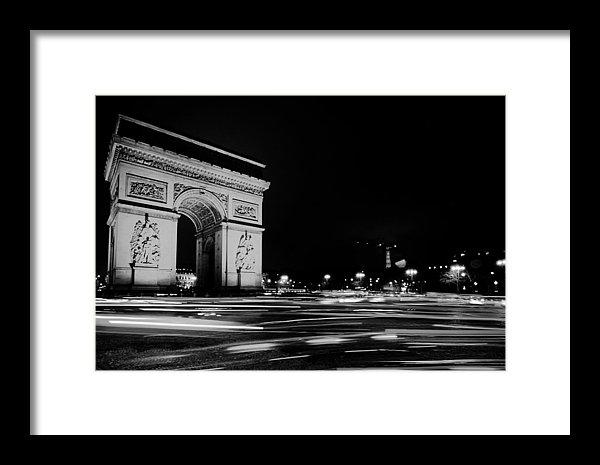 Pixabay - Arc de Triomphe at Night Print