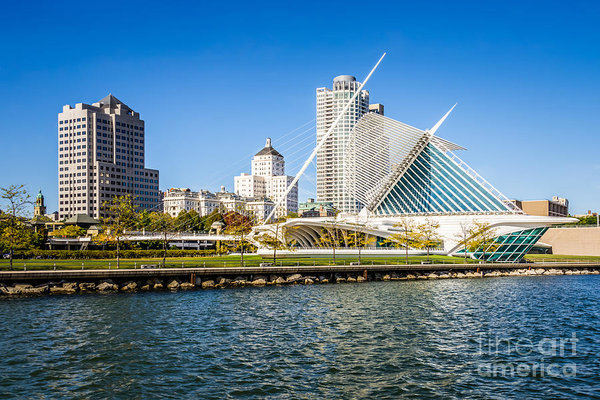 Paul Velgos - Milwaukee Skyline Photo w... Print