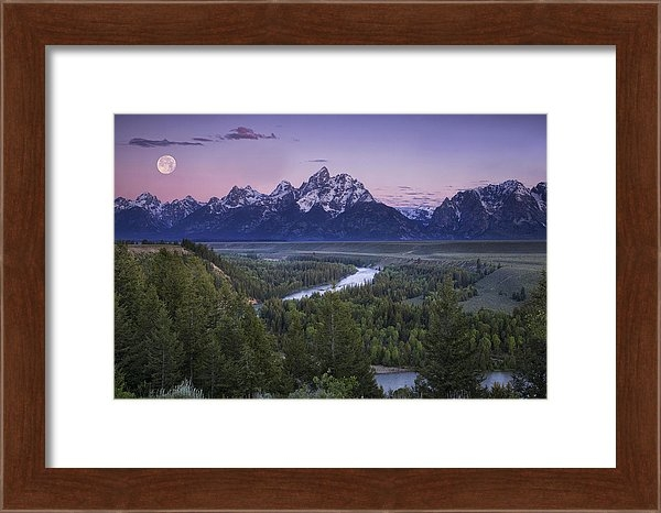 Andrew Soundarajan - Full Moon over the Mounta... Print