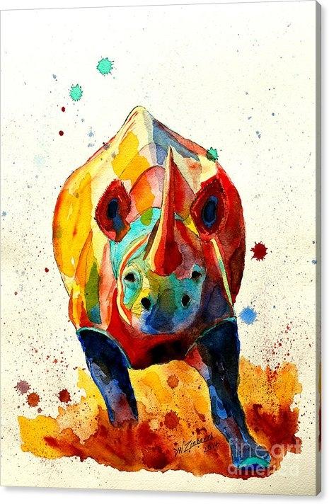 Dale Wesley Ziebarth - Agitated Rhino Print