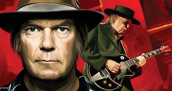 Sheraz A - Neil Young Artwork Print