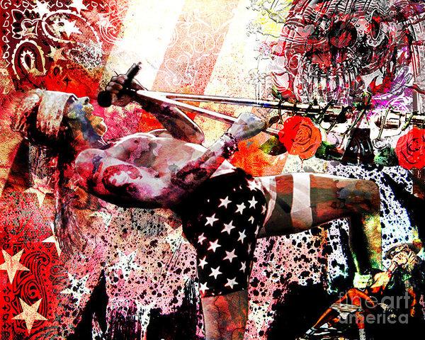 Ryan Rock Artist - Axl Rose Original Print
