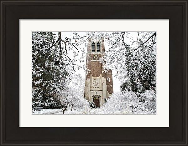 John McGraw - Beaumont Tower Ice Storm  Print