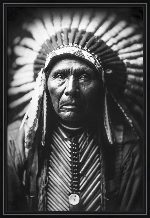 Aged Pixel - Indian of North America c... Print