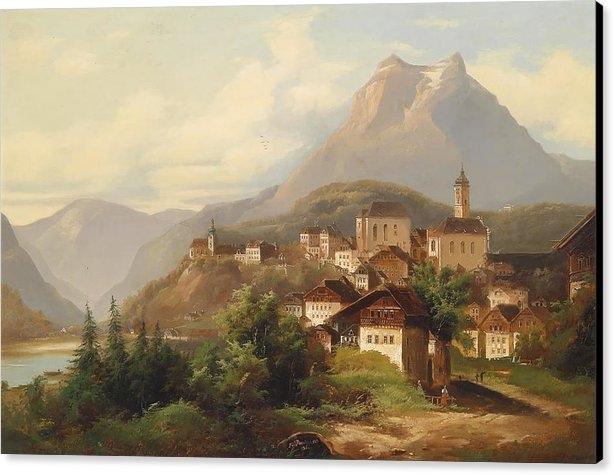 Mountain Dreams - German Village Print