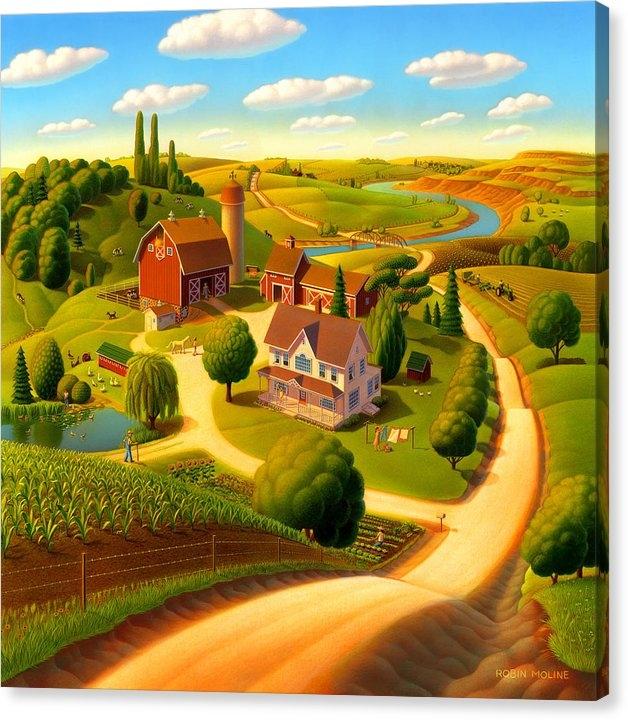 Robin Moline - Summer on the Farm  Print