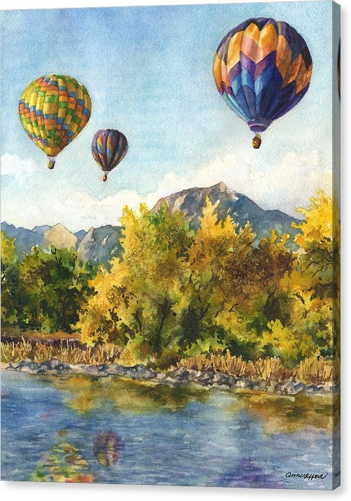 Anne Gifford - Balloons at Twin Lakes Print