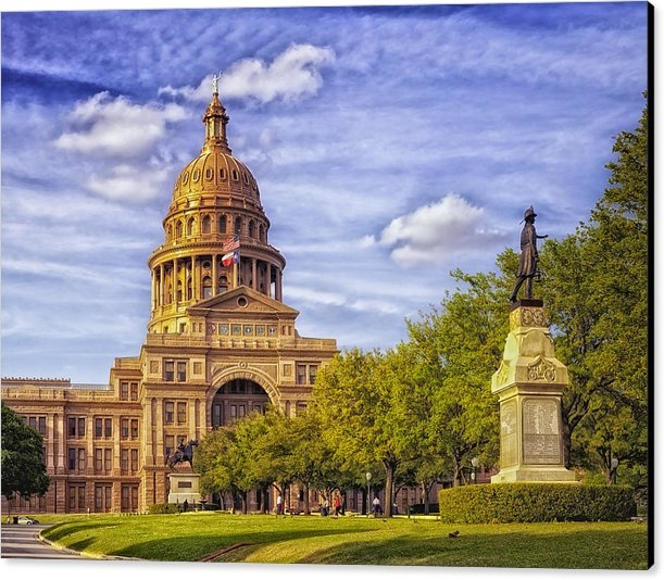 Mountain Dreams - The Texas State Capitol -... Print
