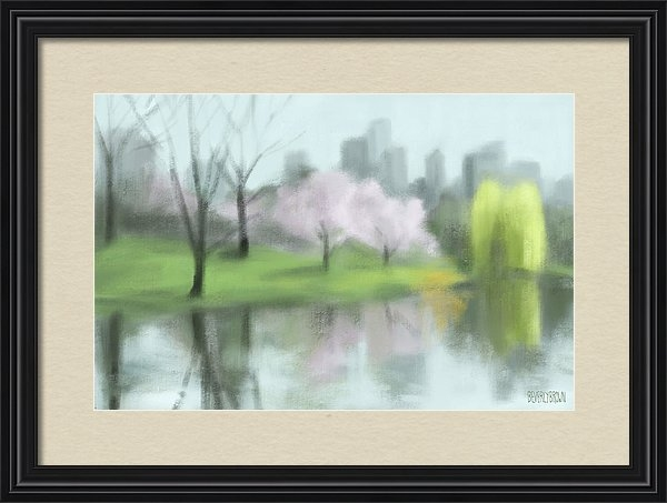 Beverly Brown Prints - Painting of Central Park ... Print