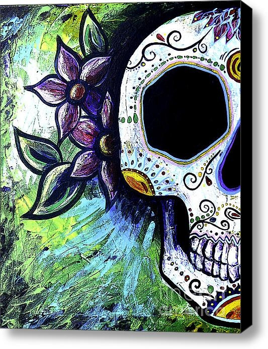 Lovejoy Creations - Green Flower Skull Print