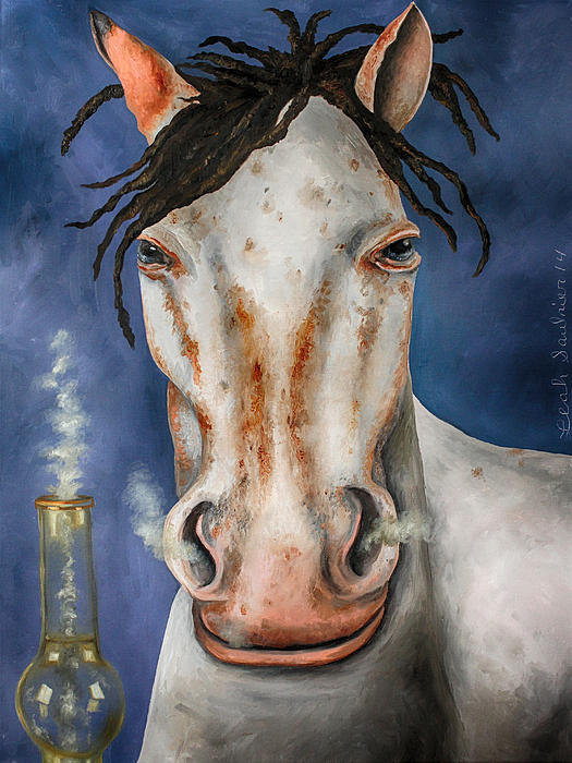 Leah Saulnier The Painting Maniac - High Horse edit 3 Print