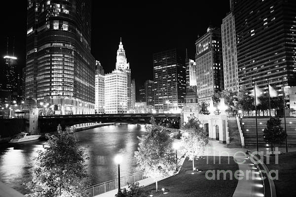 Paul Velgos - Chicago River Buildings a... Print