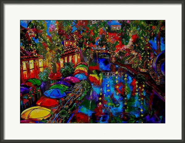 Patti Schermerhorn - Fall on the Riverwalk Print
