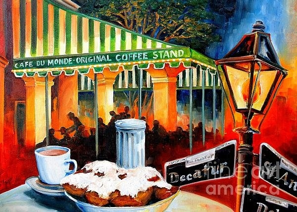 Diane Millsap - Late at Cafe Du Monde Print