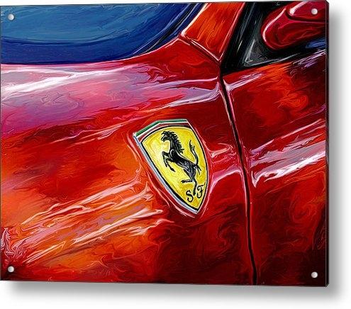 David Kyte - Ferrari Badge Print
