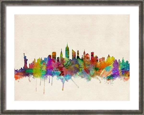 Michael Tompsett - New York City Skyline Print