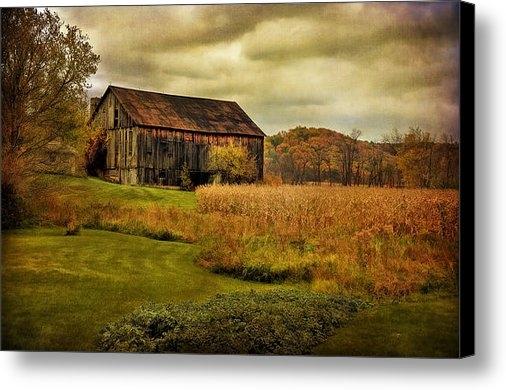 Lois Bryan - Old Barn In October Print