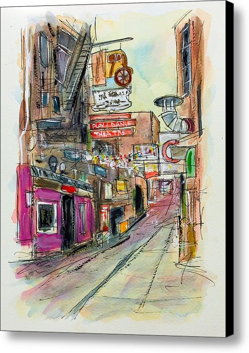 Tim Ross - Printers Alley Nashville Print
