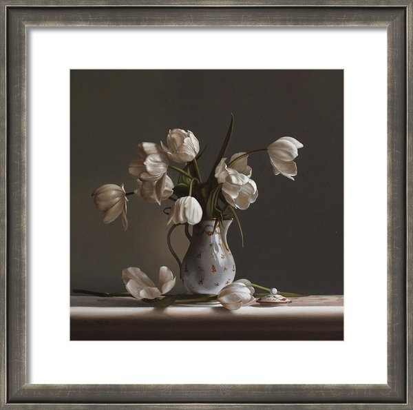Larry Preston - White Tulips Print