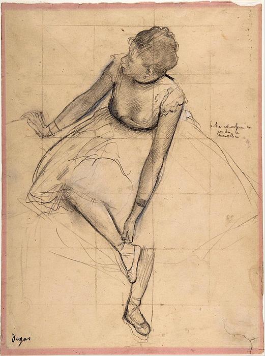 Edgar Degas -  Dancer Adjusting Her Sl... Print