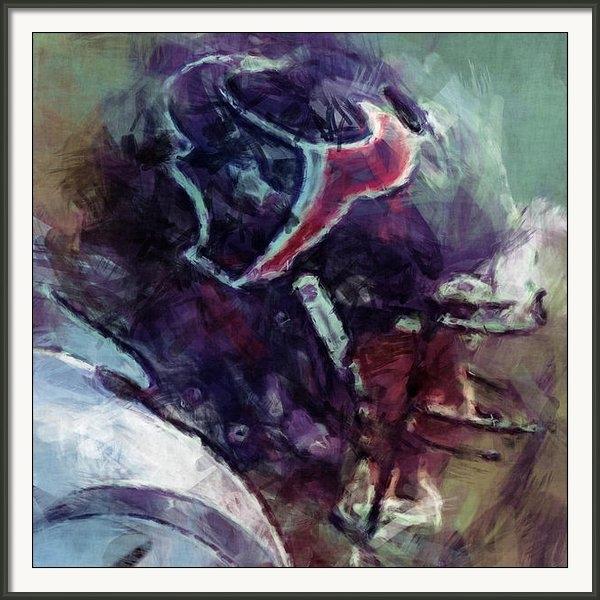David G Paul - Texans Art Abstract Print
