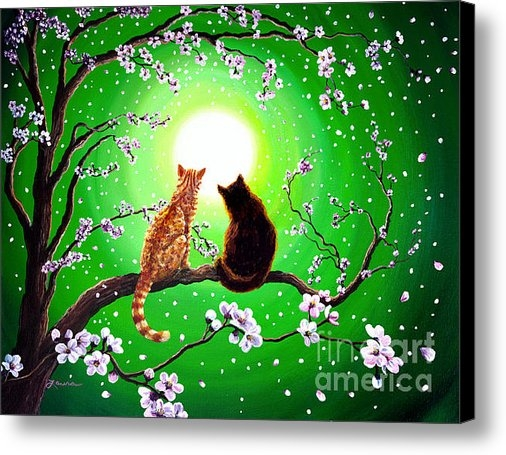 Laura Iverson - Cats on a Spring Night Print