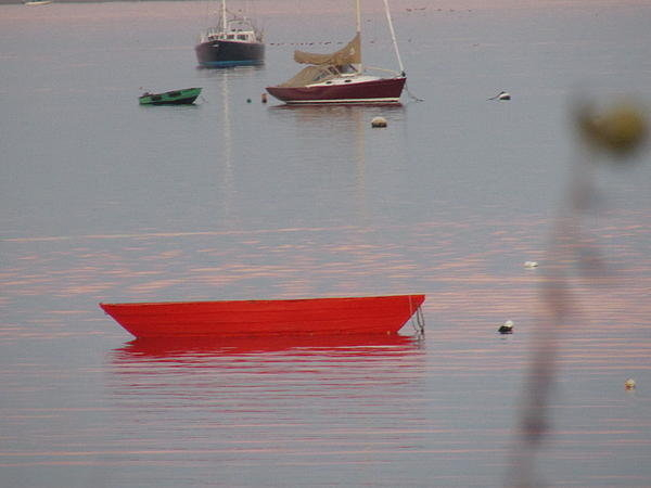 Amy Chesnut - Red Boat at Sunset Print