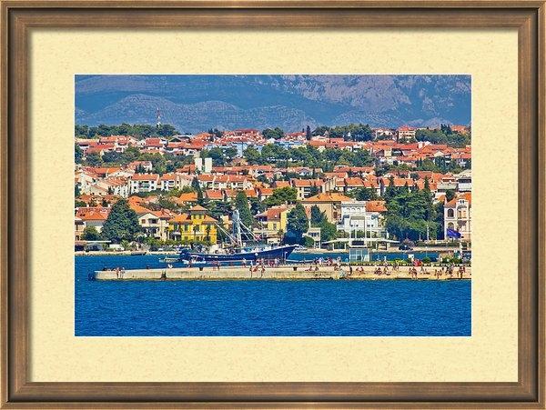 Dalibor Brlek - Zadar waterfront sea orga... Print