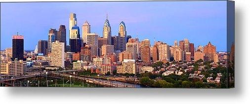 Jon Holiday - Philadelphia Skyline at D... Print