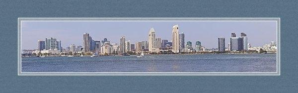 Gino Rigucci - San Diego skyline panoram... Print