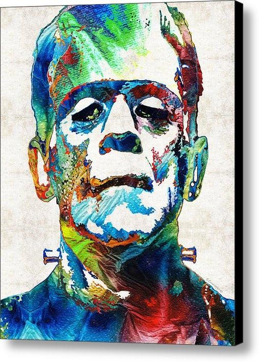 Sharon Cummings - Frankenstein Art - Colorf... Print