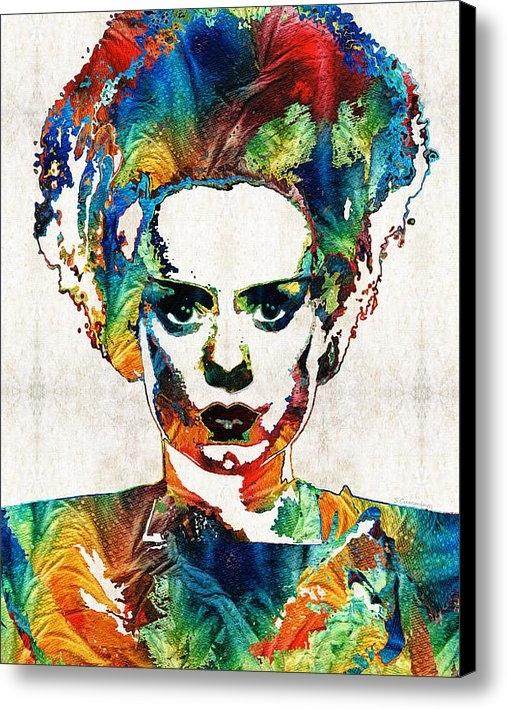 Sharon Cummings - Frankenstein Bride Art - ... Print
