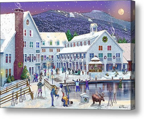 Nancy Griswold - Wintertime at Waterville ... Print