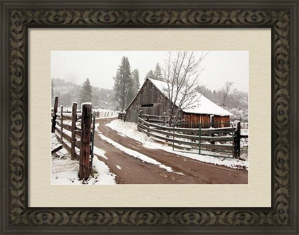 Lori Quillen - Barn in a Blizzard Print
