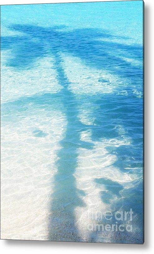 Jenny Rainbow - Palm Shadow on the Blue W... Print