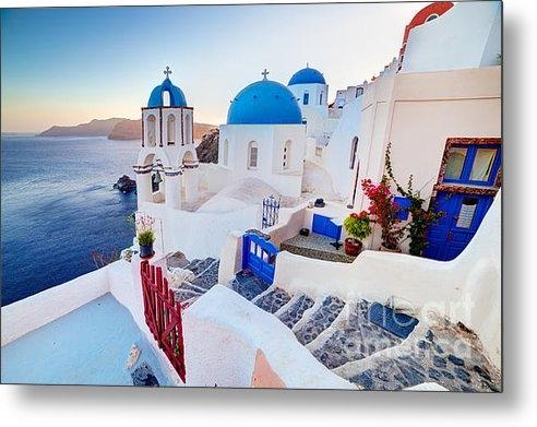 Michal Bednarek - Oia town on Santorini Gre... Print