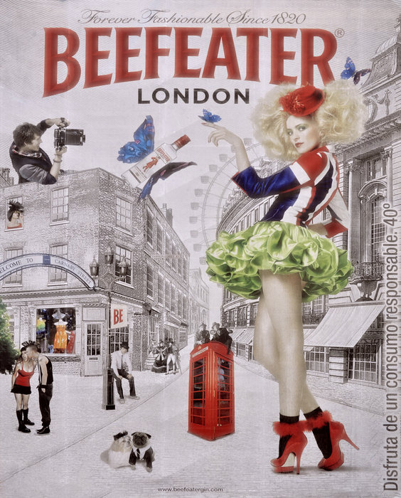 Mary Machare - Beefeater Gin Print