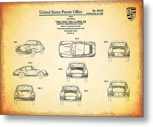 Mark Rogan - Porsche 911 Patent Print