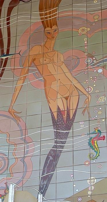 Jeff Lowe - Catalina Tile Mermaid Print