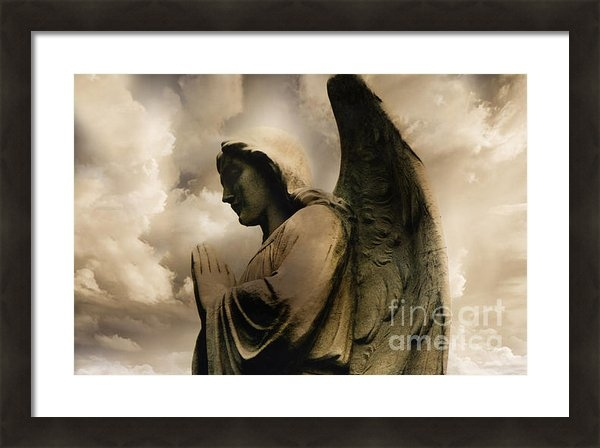 Kathy Fornal - Angel Praying Spiritual A... Print