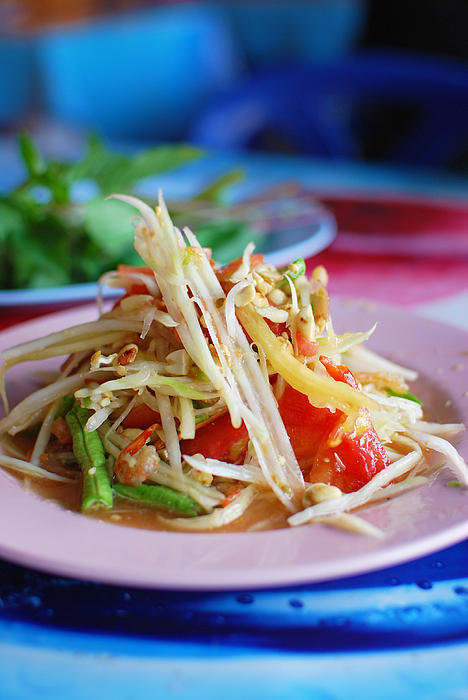 Kittikun Atsawintarangkul - Thai papaya salad Also kn... Print