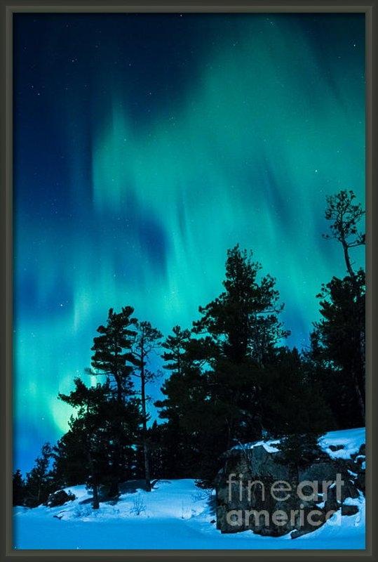 Lori Dobbs - Rainy Lake Lights Print